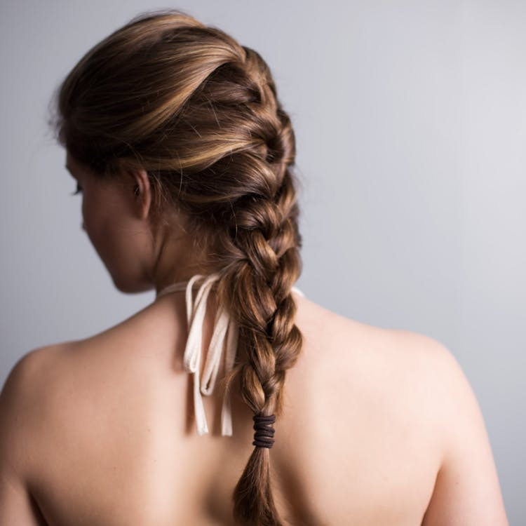 Braid hairstyle for summer months
