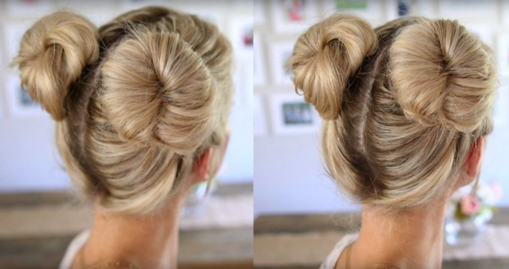 Double Bun Hairstyle for Summer Months