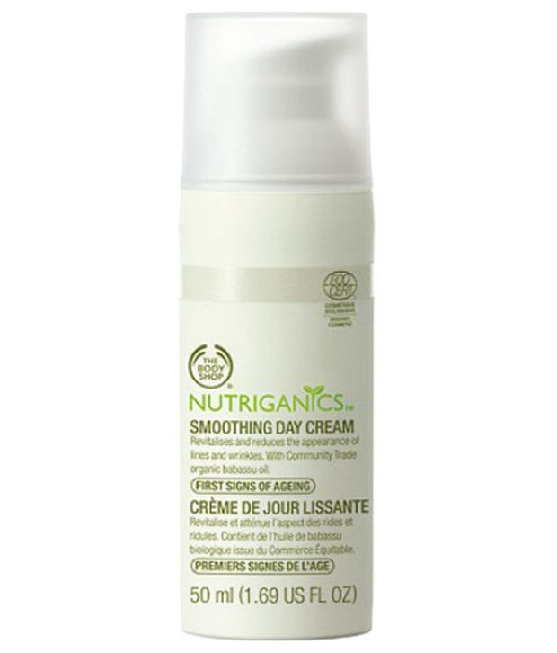 cismis The Body Shop Nutriganics Smoothing Day Cream - Anti-Aging & Wrinkle Free Skin: Best 8 Creams Available In India- Review & Price