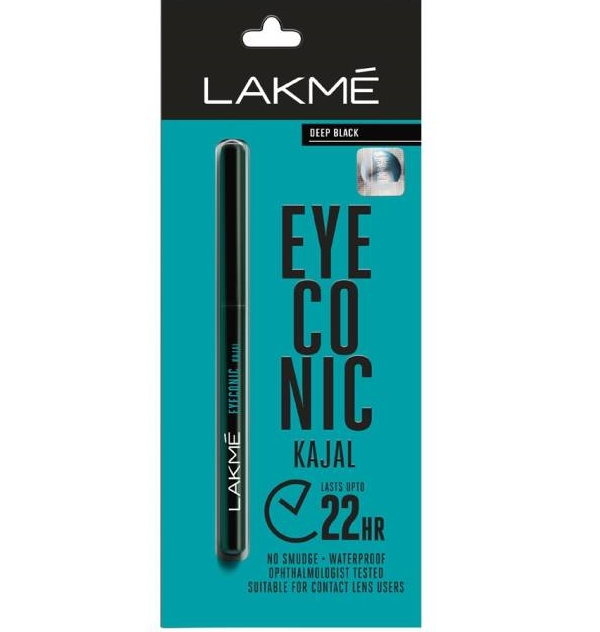 Lakme Eyeconic Black Kajal pencil - Top 10 Smudge Proof Under Rs. 500 Eyeliners & Pencils to Try- Read Review & Price