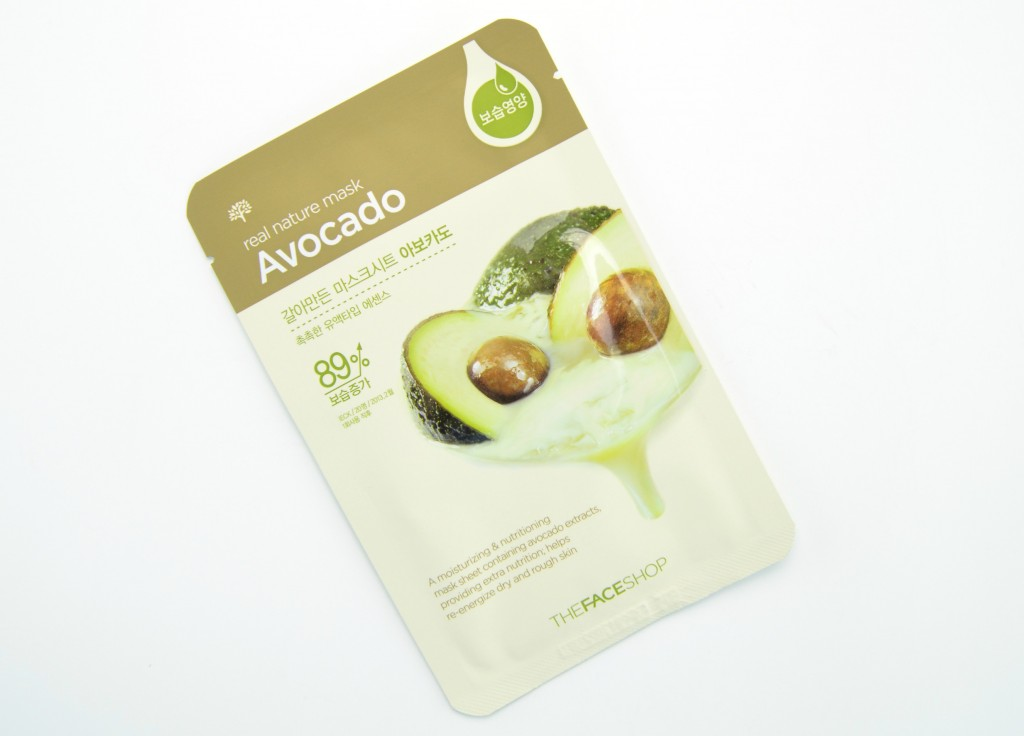 The Face Shop Real Nature Avocado Face Mask - The Face Shop Real Nature- Top 10 Sheet Masks with Review & Price