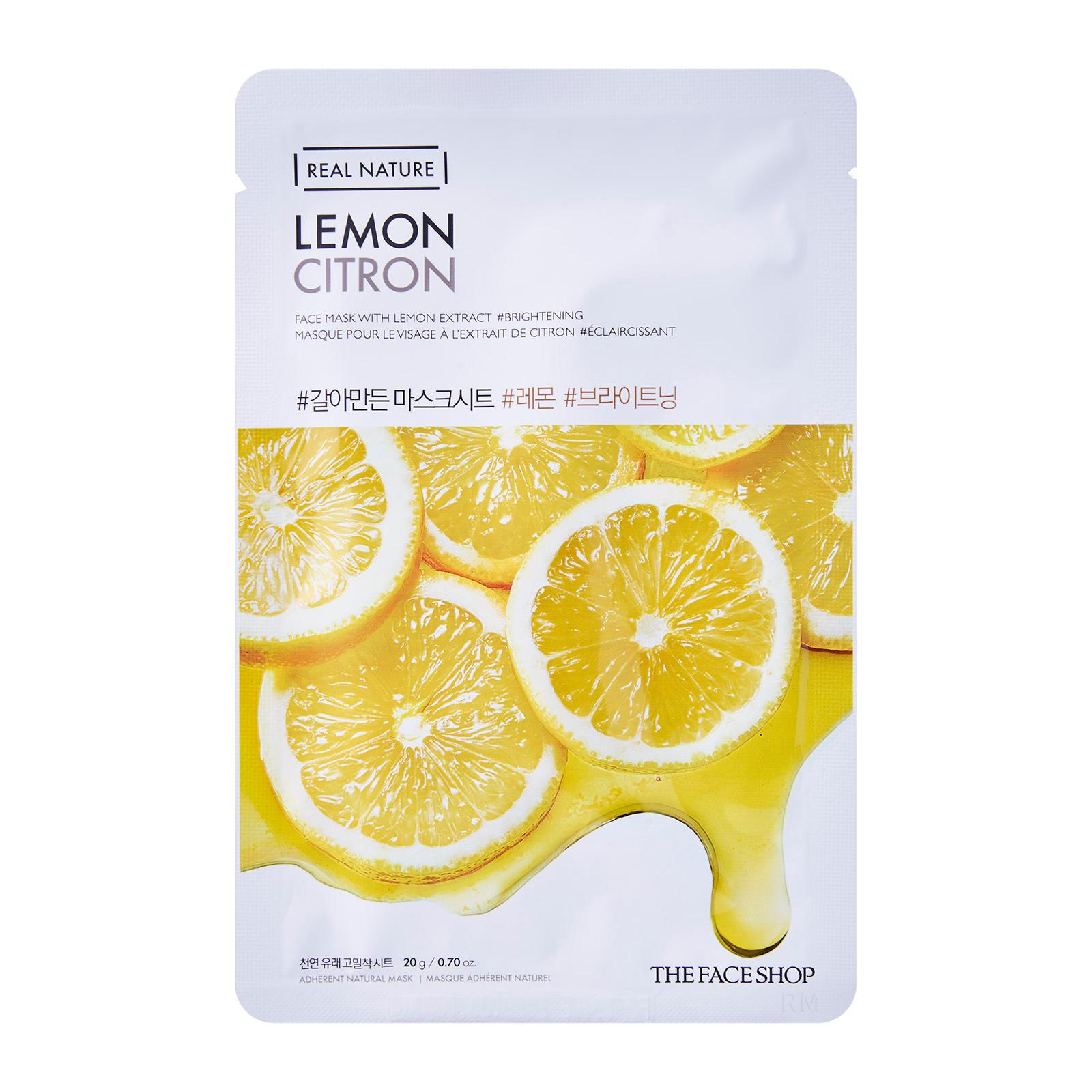 The Face Shop Real Nature Lemon Face Mask - The Face Shop Real Nature- Top 10 Sheet Masks with Review & Price