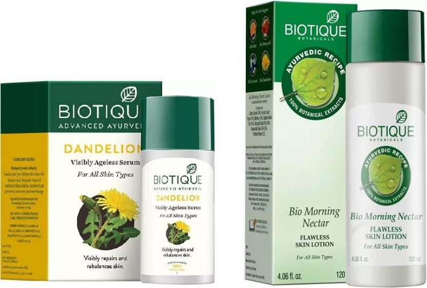 Biotique Bio Dandelion Visibly Ageless Serum - Fairness Creams - Best 12 Skin Lightening Serums,Creams & Gels in India