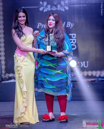 Ashima Best Fashion Art 339x420 - Glam Pro Beauty & Wellness Awards 2018 - Celebrity Presenter Actress Kriti Kharbanda and TV Superstar Manish Goel